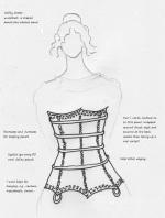 Sketch corset